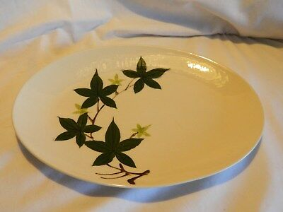 Vintage Large Hand-Painted Oval Platter Ivy By Kanedai –Japan