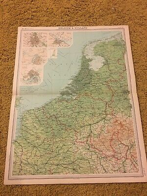 old world atlas Plate Map Belgium & Holland