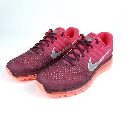 cheap for discount 9373a 1724f Nike Air Max 2017 Men s Running Training Gym Red Maroon White 849559-601  Size