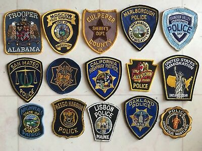Vintage Mixed  Lot (72) Police  Department  & Law Enforcement Patches
