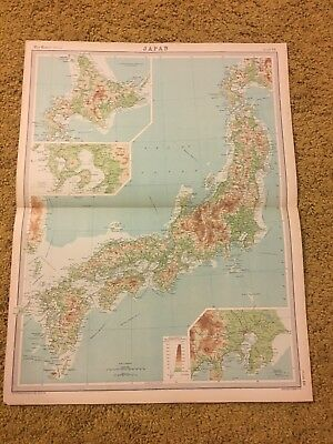 old world atlas Plate Map Japan