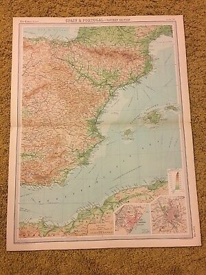 old world atlas Plate Map Spain & Portugal Eastern Section