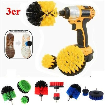 3Pcs/Set Cleaning Drill Brush Wall Tile Grout Power Scrubber Tub Cleaner Combo
