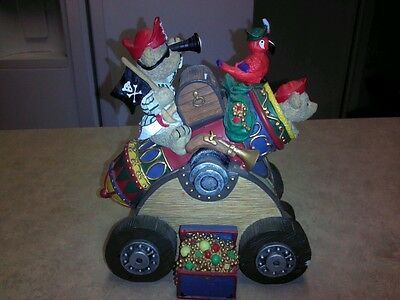 Pirates Treasure Teddy Bears Cannon Piggy/coin Bank