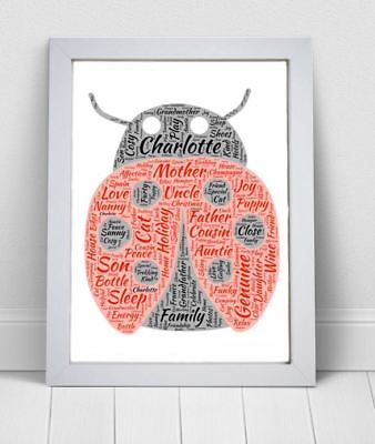 HENDRICKS GIN KEEPSAKE A4 // A3 ANY WORDS PERSONALISED WORD ART UNIQUE PRINT