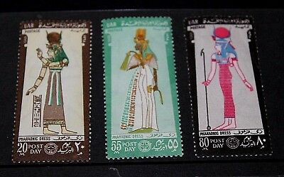 Egypt 1968 Post Day Set Of 3 Issues   Fine Mint  M///h