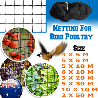 8 Size Anti Bird Crop Veg Net Netting Garden Plants Ponds Fruit Mesh Protection