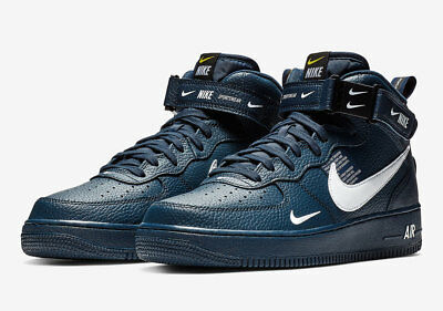 NIKE AIR FORCE 1 Mid '07 Lv8 Utility Blue Brand New Uk Sizes