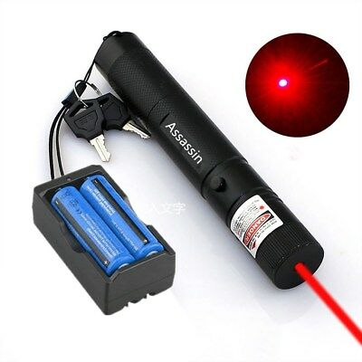 50 Miles 650nm Rechargeable Red Laser Pointer Pen Pet Cat Toy Visible Beam Lazer