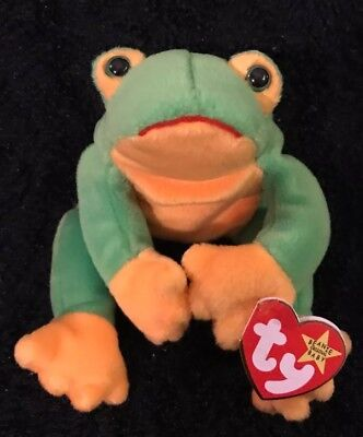 f4ec55a665d Ty Beanie Baby Smoochy the Frog- Tree Frog Christmas Stockings Free Shipping