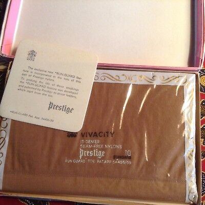 Vintage New Prestige Stockings Size 10