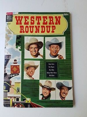 VINTAGE  Western Roundup Dell Comic Book January-March 1955 No. 9