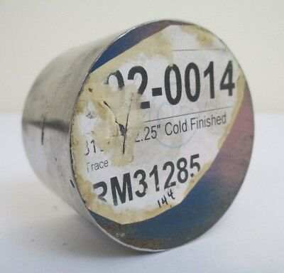 """2.25"""" Diameter 316 Stainless Steel Cold Finish Round Rod 1.5"""" Length Lathe Bar"""