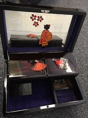 Vintage Japanese Musical Jewelry box with key