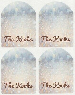 SET OF 6 X PERSONALISED 89 x120.7MM GOLD AND SILVER BOKEH WINE BOTTLE LABELS
