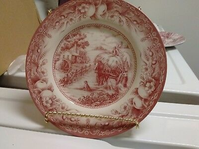 Royal Stafford red salad dessert plate Fine Earthenware England [no stand]