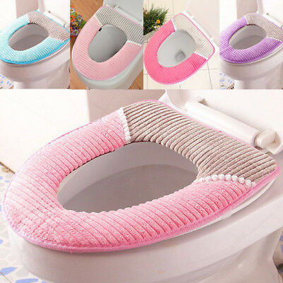 Home bathroom toilet seat washable soft comfortable warmer mat pad cushion cover