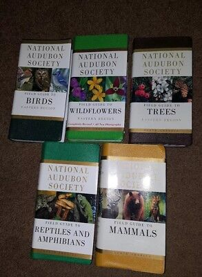 Lot 5 National Audubon Society Field Guide Books Birds, Wildflowers, Trees, +2