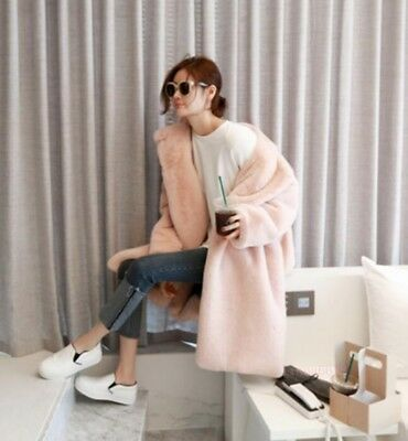 Womens Winter Stylish Faux Fur Ladies Long Coats Casual Jackets Trench Loose Hot