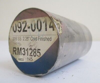 """2.25"""" Diameter 316 Stainless Steel Cold Finish Round Rod 3.875"""" Length Lathe Bar"""