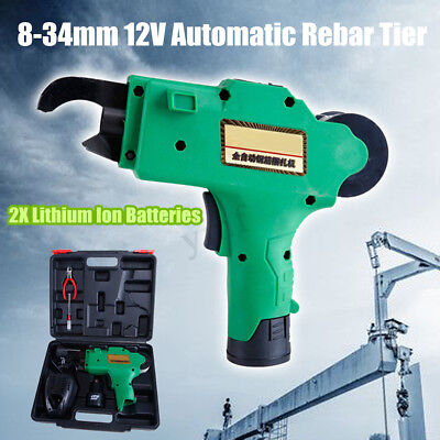 Automatic Handheld Rebar Tier Tying Machine Reinforcing Steel Strapping 8-34mm