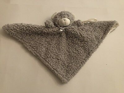 Blankets and Beyond Lovey Grey Fuzzy Bear Security Blanket Baby Toy Snuggle