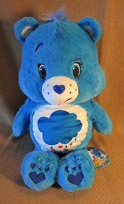 """New 35 Years of Caring Blue Care Bear Plush 14"""" Tall Imported from Japan"""