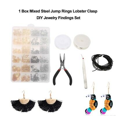 Jewelry Making Kit Set DIY Tool Findings Starter Pliers Clasp Hooks Accessories