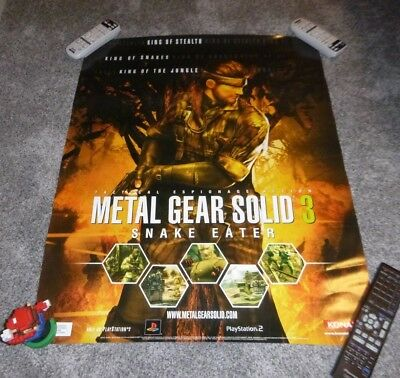 Vintage Metal Gear Solid 3 Snake Eater Poster 36 x 24 Original Print PS2 MGS