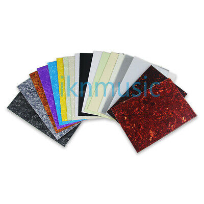 Guitar Bass Pickguard Blank Material Sheet Scratch Plate Custom 43*29cm 44Colors