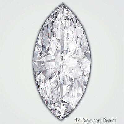 0.91ct. E-SI2 V.Good Polish Marquise GIA Certified Diamond 9.17x5.29x3.21mm