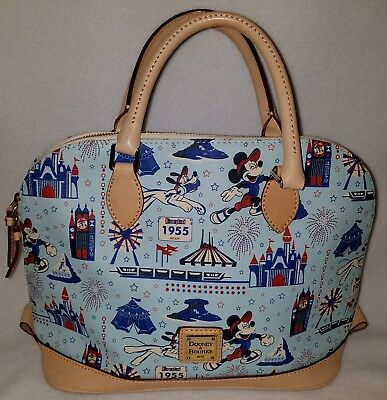 Disneyland Dooney & Bourke iconic 1955 attractions pattern, New w/tags. Rare!!!