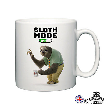 Sloth novelty mug lazy chill cosy home relax tea coffee ideal funny ideal gift