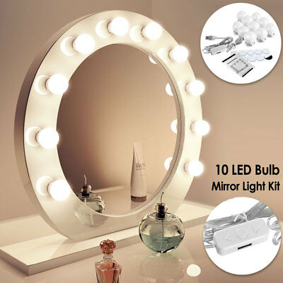 Makeup Mirror Lights LED Hollywood Kit Bulbs Wall Vanity Light Dimmable 3 Colors
