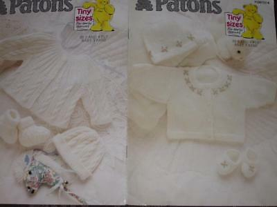 Patons Knitting PATTERN Book 1120 BABY TINY SIZES EARLY ARRIVALS KNIT 3 & 4 PLY