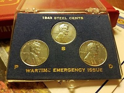 1943 Steel Lincoln Cent Set in Case