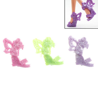 8 Pairs   Shoes Butterfly Wings Design Doll Shoes   Dolls AccessoryIN