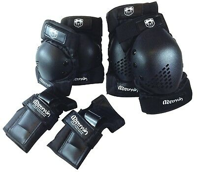 Adrenalin Skate Protection 6 PIECE SET : Elbows & Knee Pads + Wrist Guards
