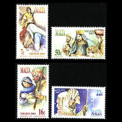 Malta 2003 - Merry Christmas Art - Sc 1144/7 MNH