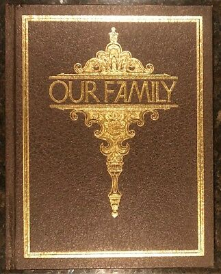 OUR FAMILY Tree Genealogy VINTAGE 1977 Hardcover Poplar Books