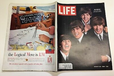 LIFE MAGAZINE August 1964 THE BEATLES Paul McCartney JOHN LENNON George Harrison