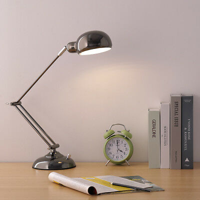 HAITRAL Swing Arm Desk Lamp Flexible Industrial Table Lamps with Rotatable Head