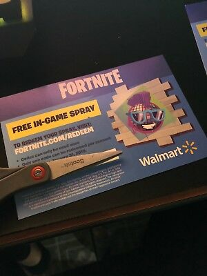 Fortnite Epic Walmart In Game Spray Code! Exclusive Spray!  Code sent by message
