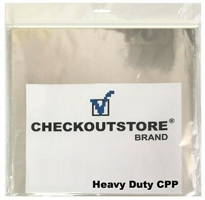 "100 CheckOutStore Clear Plastic CPP Inner Sleeves for 12"" Vinyl 33 RPM Records"