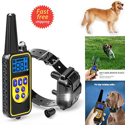 2600ft Waterproof LCD Dog Training Shock Collar Rechargeable Remote Anti Bark