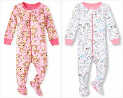 NWT The Childrens Place Butterfly Footed Stretchie Sleeper Pajamas 2T 3T 4T 5T