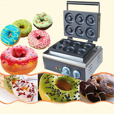 110V Commercial Donut Machine Maker Automatic Home Electric Waffle Making 1.5Kw