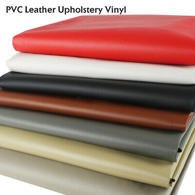 "Vinyl Fabric Faux Leather Upholstery Home Auto Boat Repair Replace 54""W By Yard"