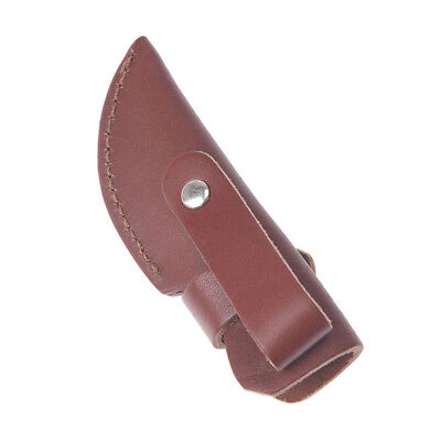 1pc knife holder outdoor tool sheath cow leather for pocket knife pouch case  X