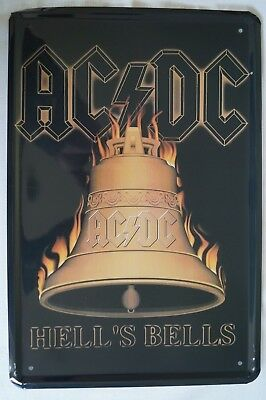 RETRO STYLE TIN SIGN - AC / DC - Hell's Bell's